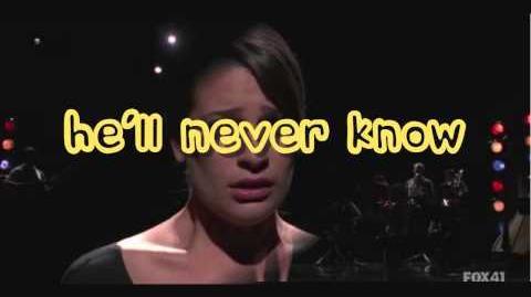 Glee My man lyrics
