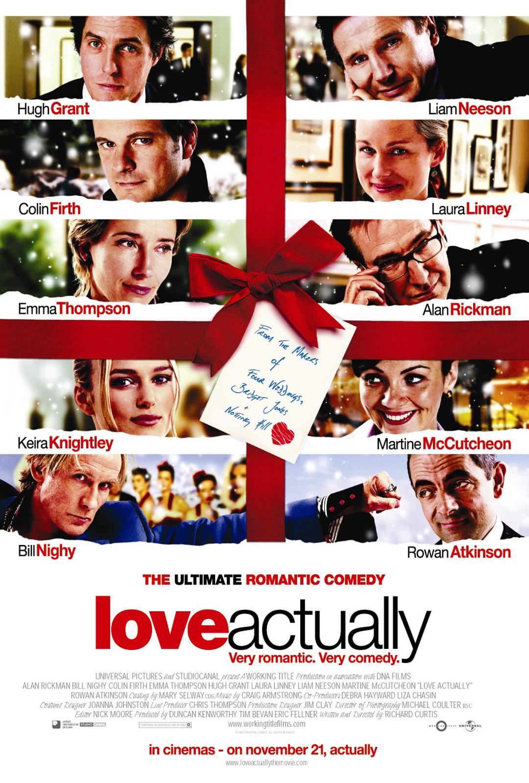 Znalezione obrazy dla zapytania love actually poster