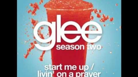 Start Me Up Livin' On a Prayer - Glee (Acapella)