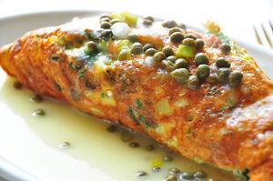 Salmon frittata