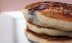 Blueberry gluten free pancakes