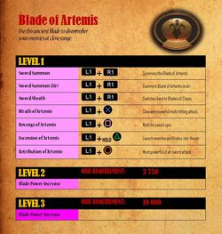 Blade of Artemis - attacks