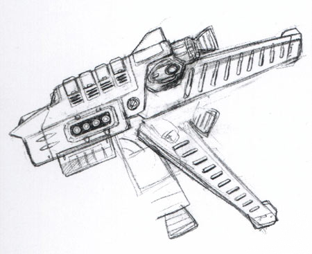 File:Concept Art - Godzilla Tokyo SOS - Kiryu Rocket Launcher 1.png