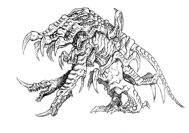 File:Concept Art - Godzilla 2000 Millennium - Orga 94.png