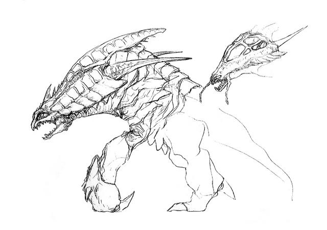 File:Concept Art - Godzilla 2000 Millennium - Orga 59.png