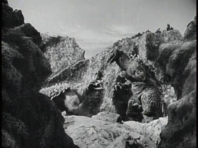File:Godzilla Raids Again - 7 - The monsters exchange gazes.png