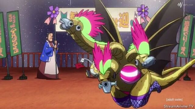 File:King Ghidorah in Space Dandy.jpg