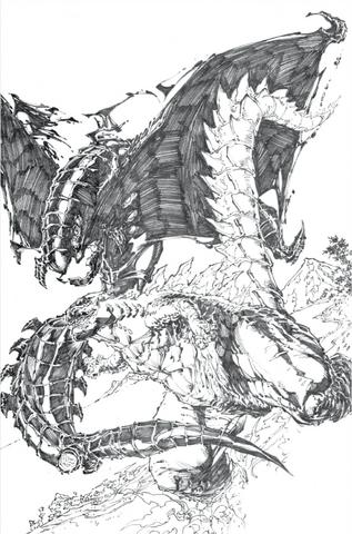 File:Concept Art - Awakening - Godzilla vs. Shinomura.png