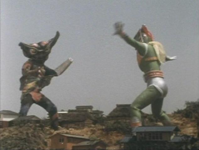 File:Go! Greenman - Episode 3 Greenman vs. Gejiru - 28 - Looks more like a dance battle.png