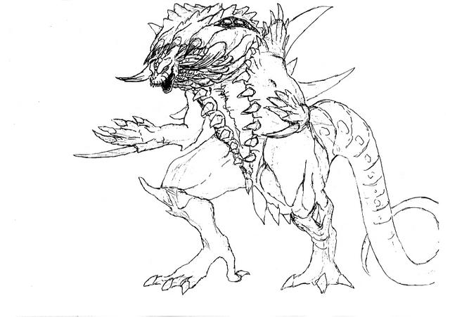 File:Concept Art - Godzilla 2000 Millennium - Orga 67.png