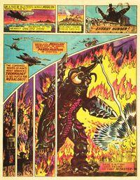 Megalon in the promo comic