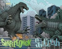 Godzilla Rulers of Earth Godzilla vs Zilla