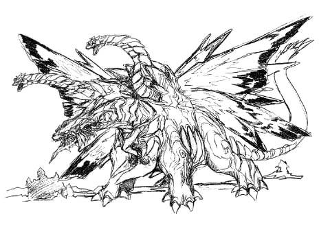 File:Concept Art - Rebirth of Mothra - Desghidorah 13.png