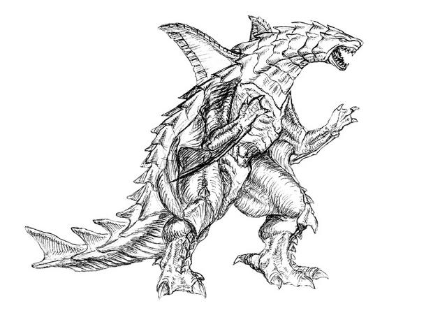 File:Concept Art - Godzilla 2000 Millennium - Orga 29.png