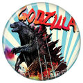 Godzilla 2014 Buttons - Blue Stripes