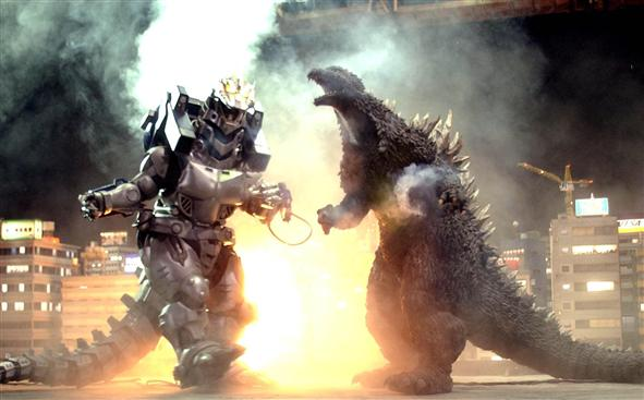 File:Godzilla fighting Kiryu behind scenes.jpg
