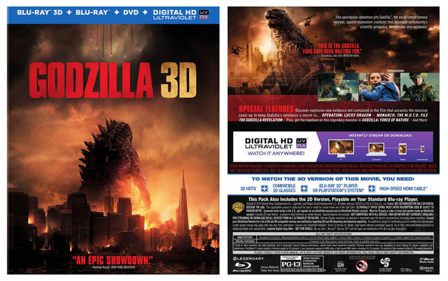 File:Front and Back Cover Art for the Godzilla 3D Blu-ray 3D + Blu-ray + DVD + UltraViolet Combo Pack.jpg