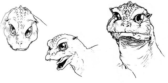 File:Concept Art - Godzilla vs. MechaGodzilla 2 - Baby Godzilla Head 1.png