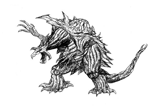 File:Concept Art - Godzilla 2000 Millennium - Orga 82.png