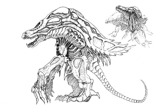File:Concept Art - Godzilla 2000 Millennium - Orga 98.png