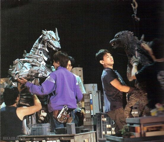 File:Godzilla Against MechaGodzilla Production Picture.jpg