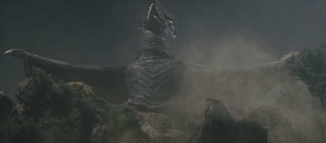 File:Gamera - 3 - vs Gyaos - 1 - Gyaos reveals itself.png