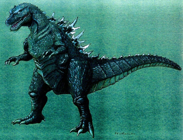 File:Concept Art - Godzilla vs. Destoroyah - Godzilla Junior 19.png