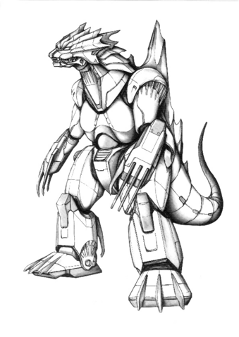 File:Concept Art - Godzilla Against MechaGodzilla - Kiryu 49.png