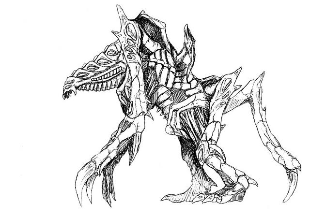 File:Concept Art - Godzilla 2000 Millennium - Orga 92.png