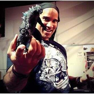 TJ STORM with Godzilla