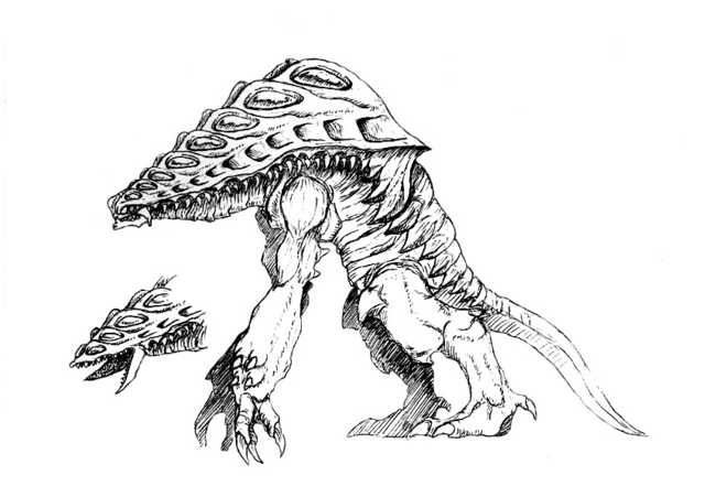 File:Concept Art - Godzilla 2000 Millennium - Orga 103.png