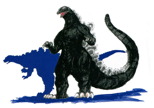 File:Concept Art - Godzilla vs. Destoroyah - Godzilla Junior 13.png