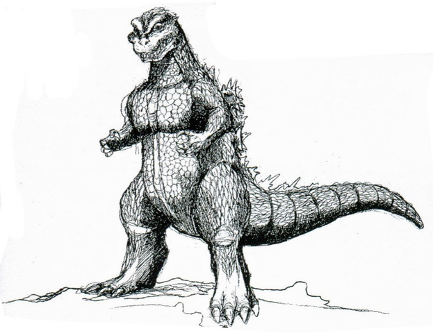 File:Concept Art - Godzilla vs. Destoroyah - Godzilla Junior 20.png