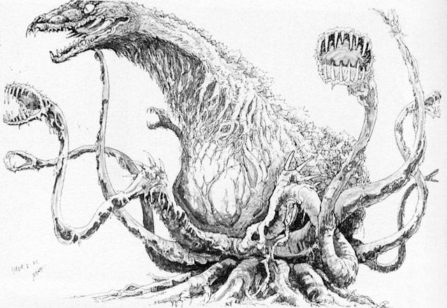 File:Concept Art - Godzilla vs. Biollante - Biollante 12.png