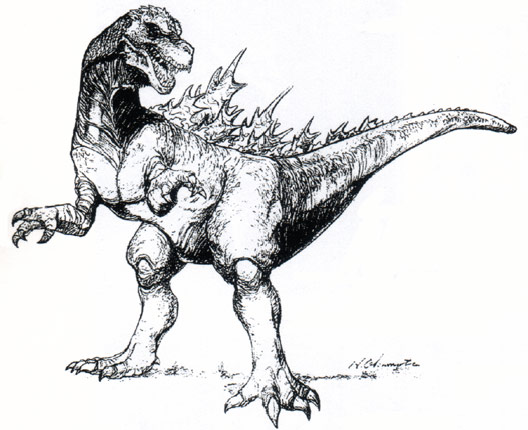 File:Concept Art - Godzilla vs. Destoroyah - Godzilla Junior 2.png