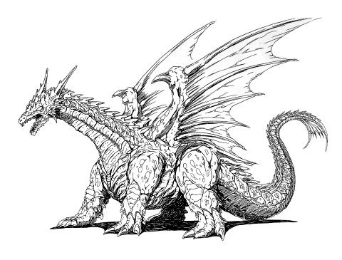 File:Concept Art - Rebirth of Mothra - Desghidorah 21.png