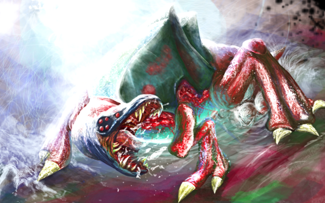 File:Metroid Queen Concept Art by Starshadow76.png