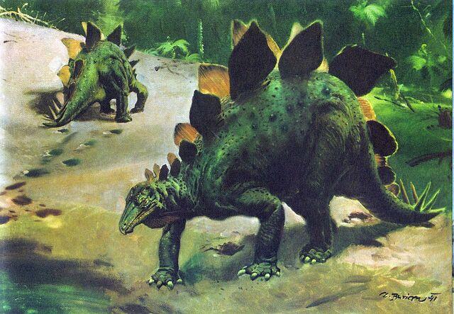File:Zdeněk Burian Stegosaurus.jpg