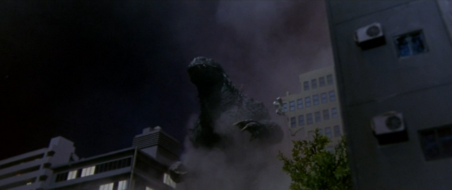 File:Godzilla vs. Megaguirus - Godzilla attacks Nakanoshima, Osaka 1.png