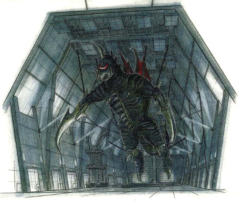 File:Concept Art - Godzilla Final Wars - Mummified Gigan 2.png