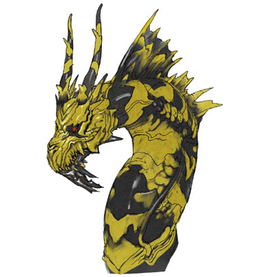 File:Concept Art - Godzilla Final Wars - Keizer Ghidorah Head Middle.png