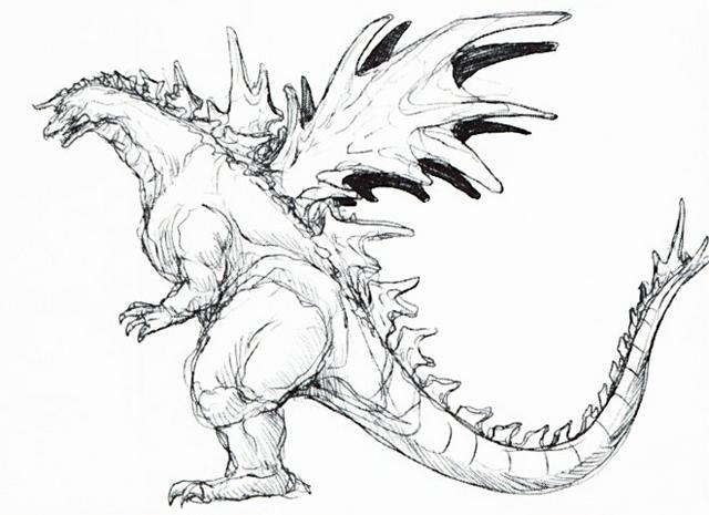 File:Concept Art - Godzilla vs. SpaceGodzilla - SpaceGodzilla 6.png