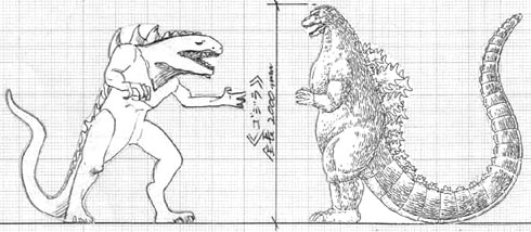 File:Concept Art - Godzilla Final Wars - Godzilla vs. Zilla.png
