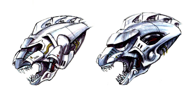 File:Concept Art - Godzilla Against MechaGodzilla - Kiryu Head 5.png