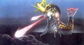 Concept Art - Godzilla vs. Mothra - Battra Larva Beams 2