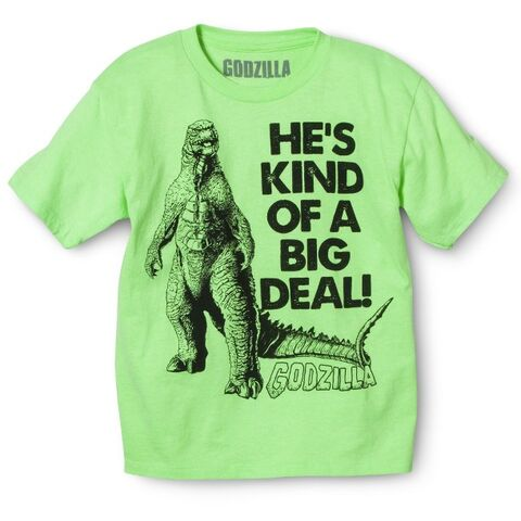 File:Godzilla 2014 Merchandise - Clothes - Kind of a Big Deal Boys Shirt.jpg