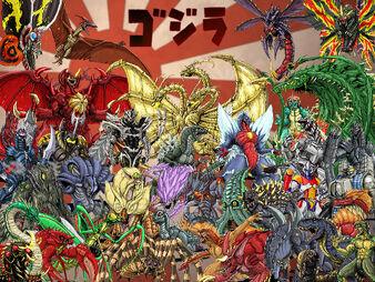 Godzilla monsters in deviantart