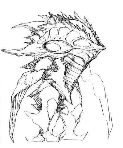 File:Concept Art - Godzilla 2000 Millennium - Orga 36.png