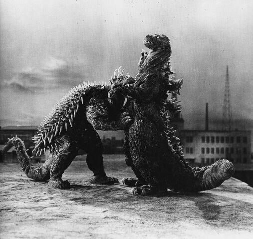 File:GRA - Anguirus Bites Godzilla's Arm.jpg