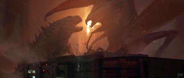 File:Concept Art - Godzilla 2014 - Godzilla vs. MUTO 6.jpg